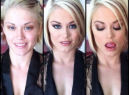 blonde sexy - Actrices porno maquillage