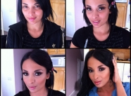 brune - Actrices porno maquillage
