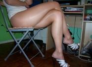 Longue jambes - Fille en collants