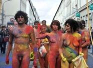 corps peints - Manifestation nue