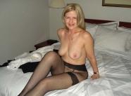 lingerie noire - Mature sexy