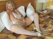 bas nylon blanc - Mature sexy
